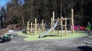 Der erneuerte Spielplatz im Wesemlin-Quartier. (Bild: Stadtgärtnerei Luzern)