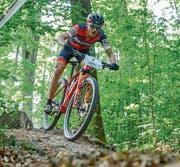 Reto Indergand ist am Swiss Bike Cup rasant unterwegs. (Bild: Roland Jauch (Solothurn, 5. Mai 2018))