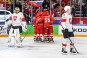 Die Schweizer gehen gegen Russland als Verlierer vom Eis. (Bild: SALVATORE DI NOLFI (EPA KEYSTONE))