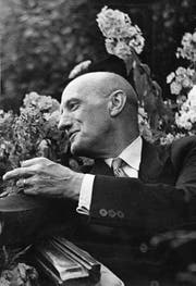 Alt Bundesrat Philipp Etter an einer Generalversammlung in Einsiedeln 1947. (Bild: Privatnachlass Philipp Etter, P 70.1115.3, Staatsarchiv Zug)