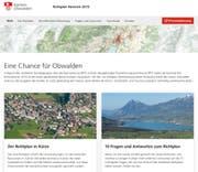 Die Website zur Revision des Richtplanes des Kantons Obwalden. (Bild: richtplan.ow.ch)