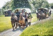 Neuankömmlinge werden in Häggenschwil mit der Kutsche abgeholt. (Bild: Ralph Ribi)
