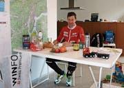 In einer Tessiner Wohnung, die OL-Fans Daniel Hubmann zur Verfügung stellten, bereitete sich der Eschliker akribisch auf die EM vor. (Bild: PD)