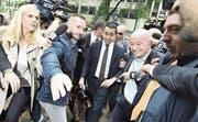 Luigi Di Maio vor der zweiten Gesprächsrunde mit der Lega. (Bild: Flavio lo Scalzo/Keystone (Mailand, 13. Mai 2018))