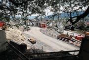Die Baustelle der Überbauung am Baumgärtli in Unterägeri. Ein Kinderhotel ist hier nicht mehr geplant. (Bild: Stefan Kaiser (Unterägeri, 9. Mai 2018))