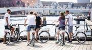 Die weissen Bycykler sind die die «Stadtvelos» Kopenhagens. (Bild:Bycyklen.dk)