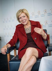 Will Frauen zu Karrieren animieren: SBB-Präsidentin Monika Ribar. (Bild: Ralph Ribi (St.Gallen, 4. Mai 2018))