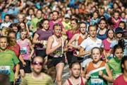 Der Luzerner Stadtlauf 2018: Jede Teilnehmerin ist eine Siegerin, jeder Teilnehmer ein Sieger. (Bild: Philipp Schmidli)