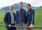 Josef Schmid wird im Verwaltungsrat neu auch mit Dominik Breu und Patrik Ulmann zusammenarbeiten (von links). (Bild: Martin Brunner)