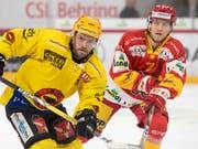 Benoit Jecker (rechts) verteidigt neu für den HC Lugano (Bild: KEYSTONE/PPR/MARCEL BIERI)