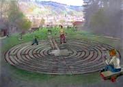 Im zweiten Teil des Sinneparks ist ein Labyrinth geplant. Mit 12 Metern Durchmesser und einer Wegstrecke von 261,5 Metern wird es gleich gross wie jenes in der Kathedrale im französischen Chartres. (Bild: PD)