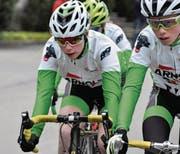 Lorena Leu (links, Radsport Altdorf) ist auch auf der Strasse ein grosses Talent. (Bild: Josef Mulle)