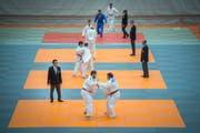 Die Ostschweizer Judo-Einzelmeisterschaften 2017 mit über 300 Teilnehmern wurden ebenfalls im Athletik-Zentrum in St.Gallen ausgetragen. Die Halle bietet für Judo-Grosanlässe optimale Voraussetzungen. (Bild: Urs Bucher - 5. November 2017)