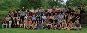 Gruppenbild der aktiven Pfadfinder, Wölfli und Mitglieder des Alt-Pfadi Vereins, die 85 Jahre Pfadi Sarnen feiern. (Bilder: Patricia Helfenstein-Burch (Sarnen, 28. April 2018))