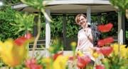Joanna Rutko-Seitler vor dem Pavillon im Jakob-Züllig-Park, wo ihre Veranstaltungen stattfinden. (Bild: Donato Caspari)