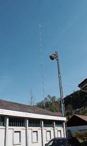 Die geplante Antenne ist in Necker ausgesteckt. (Bild: Martin Knoepfel)