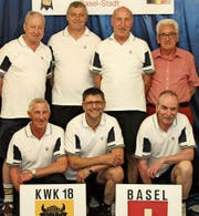 Hinten von links: Bruno Epp, Otto Althaus, Robert Baumann und Teamchef Edi Baumann. Vorne von links: Klemens Arnold, Damian Hauser und Rudolf Walker. (Bild: PD)