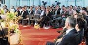 Die Ostschweiz macht sich selbstständig: Noch nie nahmen so viele Unternehmensgründer am Start-up-Forum an der Rhema teil, wie dieses Jahr. (Bild: Max Tinner)