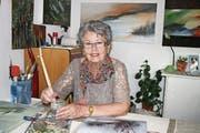 Silvia Zimmermann bei der Arbeit an einem ihrer Werke. (Bild: Sepp Odermatt (Buochs, 24. April 2018))