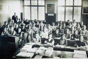 Klassenfoto aus dem Mörschwiler Gallusschulhaus von 1920. (Bild: PD)