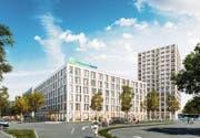 Das geplante Hotel im Mattenhof. (Bild: Visualisierung: PD)