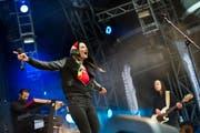"""2013 rappte sich """"Steff la Cheffe"""" über die Bühne des Open-Airs St.Gallen. (Bild: Jonny Schai)"""