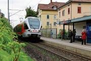 Zu Doppelspur, Bahnhof, Tunnel und Radweg an der Bahnlinie kommt eine Unterführung für Velos beim Stadtbahnhof hinzu. (Bild: Rebecca Frei)