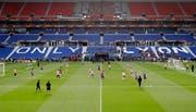 Atletico Madrid beim Training in Lyon. (Bild: AP Photo/Laurent Cipriani (15.5.2018)