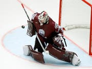 Luganos Torhüter Elvis Merzlikins führte Lettland in die Viertelfinals (Bild: KEYSTONE/AP/PETR DAVID JOSEK)