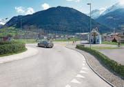 So soll sich die Situation bei der Schächenbrücke mit der Crivelli-Kapelle nach dem Bau der WOV präsentieren.Visualisierung: PD