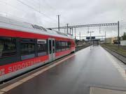 Die S4 auf dem Weg nach Uznach (Bild: Timon Kobelt)