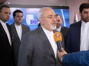 Wie reagieren die europäischen Vertragsländer auf den Ausstieg der USA aus dem Atomabkommen? Irans Aussenminister streckt in Brüssel die Fühler aus. (Bild: KEYSTONE/AP/OLIVIER MATTHYS)