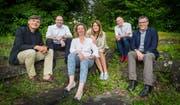 Die Bürgergruppe Schmetterling: Bruno Stäheli, Jürgen Krotzinger, Andrea Ferraro, Cinzia De Martin, Heinz Halter, Jörg Ackermann.