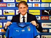 Roberto Mancini hat mit Italien grosse Ziele (Bild: KEYSTONE/AP ANSA/CLAUDIO GIOVANNINI)