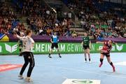 Spono-Topskorerin Lisa Frey im Cupfinal gegen Brühl SG. (Bild: foto-net/Alexander Wagner (Zürich, 29. April 2018))
