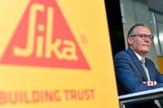 Sika-Präsident Paul Hälg an einer Medienkonferenz in Zürich. Walter Bieri/Keystone (11. Mai 2018)