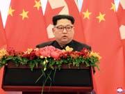 Hat kein Interesse an einer nuklearen Abrüstung: Nordkoreas Machthaber Kim Jong Un. (Bild: KEYSTONE/AP KCNA via KNS)