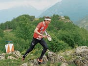 Daniel Hubmann ist im Langdistanzrennen in den Tessiner Bergen unterwegs. Beim 25. Posten passiert ihm der entscheidende Fehler. (Bild: Davide Agosta/KEY)