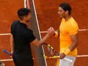 Rafael Nadal (rechts) kann in Rom nicht auf Dominic Thiem treffen: Der Österreicher scheiterte bereits in der 2. Runde (Bild: KEYSTONE/AP/FRANCISCO SECO)