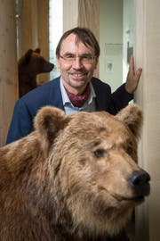 Toni Bürgin in «seinem» Naturmuseum. (Bild: Urs Bucher)