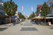 Die Fussgängerzone Obere Bahnhofstrasse in Wil wurde als Testobjekt ausgewählt. (Bild: PD)