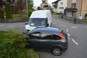 Die beiden Fahrzeuge prallten beim Befahren der Kreuzung ineinander. (Bild: Kantonspolizei Nidwalden, Ennetbürgen, 15. Mai 2018)