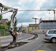 An der Tannenbergstrasse wird wieder gebaut. (Bild: Flavia Borrer)