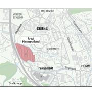 Auf dem Grundstück Hinterschlund, das der Stadt Luzern gehört, sollen rund 40 Reserve-Carparkplätze entstehen.