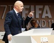 Gianni Infantino setzt sich vehement für die nordamerikanische Kandidatur ein. Bild: Ap/Evan Vucci