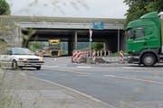 Hier muss das Bundesamt für Strassen nachbessern: Kreisel bei der Autobahnausfahrt Sempach. (Bild: Corinne Glanzmann (17. Mai 2018))