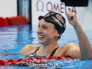 Schwimmt über 1500 m in einer eigenen Liga: Katie Ledecky (Bild: KEYSTONE/EPA EFE/ESTEBAN BIBA)