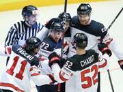 Können die Kanadier auch im Viertelfinal gegen Russland jubeln? (Bild: KEYSTONE/AP/PETR DAVID JOSEK)