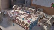 Das von Kindern gestaltete Modell der Überbauung an der Industriestrasse. Bild: Stefan Dähler (Luzern, 17. Mai 2018)