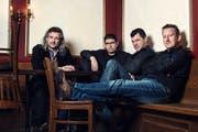 Die Hujässler; von links: Dani Häusler, Markus Flückiger, Sepp Huber und Reto Kamer. (Bild: PD)